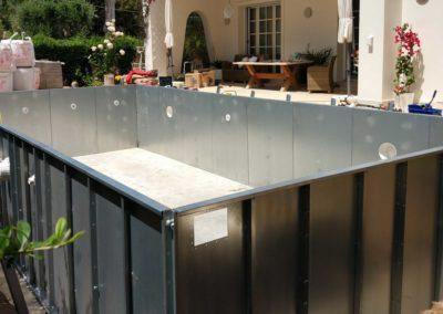Πισίνες προκατασκευασμένη- Μεταλλικά πάνελ δημιουργίας τοιχίων
