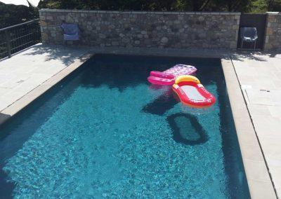 Πισίνα προκατασκευασμένη-Με μεταλλικά πάνελ, επένδυση liner και με skimmer
