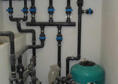 Κατασκευή πισίνας. Υδραυλικά δίκτυα μηχανοστασίου