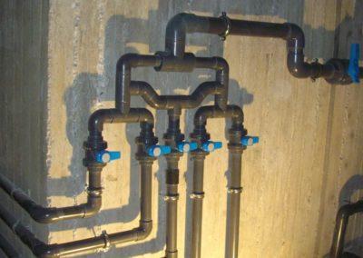 Κατασκευή πισίνας- Συλλέκτης ομοιοκατανομής νερού στη πισίνα