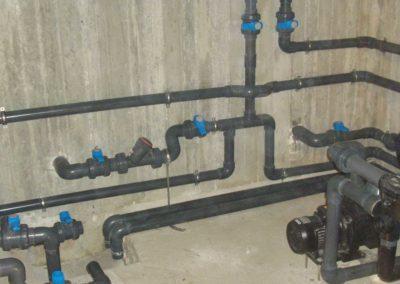 Κατασκευή πισίνας-Σύστημα αναρρόφησης δεξαμενής υπερχείλισης