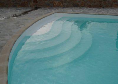 Επένδυση πισίνας-Εσωτερική επένδυση με τσιμεντοκονία και βαφή
