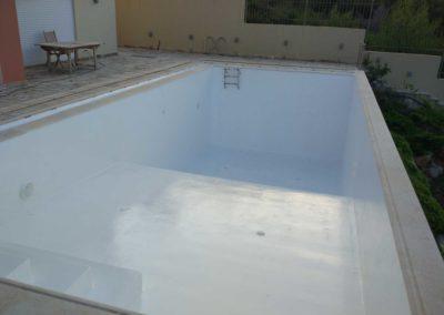 Επένδυση πισίνας-Τσιμεντοκονία με βάψιμο