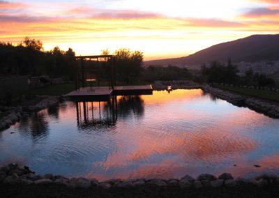 Φυσική πισίνα  χωρίς χημικά-Ηλιοβασίλεμα