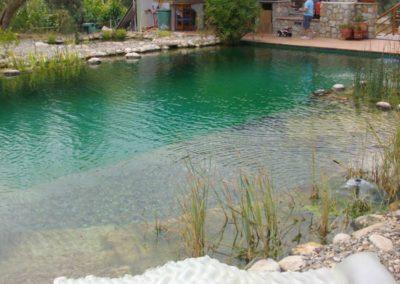 Φυσική πισίνα χωρίς χημικά- Περιοχή εισόδου