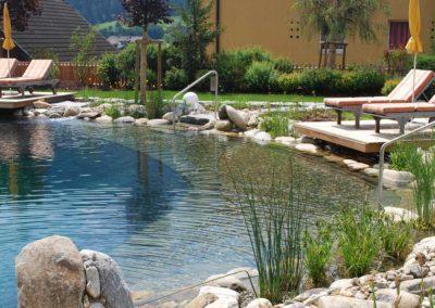 Φυσική πισίνα χωρίς χημικά - Ασφαλής είσοδος