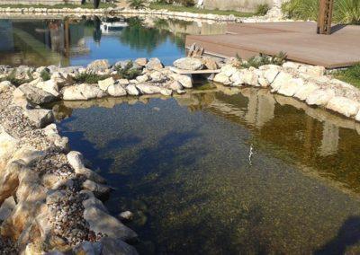 Φυσική πισίνα χωρίς χημικά-Χώρος τοποθέτησης βιολογικών φίλτρων-skimmer