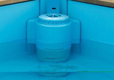 Πισίνα για παιδιά PISTOCHE. Λειτουργία skimmer στη χαμηλή στάθμη νερού