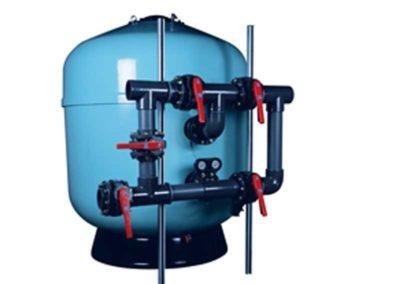Μηχανήματα για πισίνες-Φίλτρο άμμου ASTRAL με σύστημα διανομής νερού, για δημόσιες πισίνες