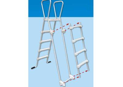 Σκάλα SAFE-Για πισίνες με μέγιστο ύψος 1,32 m.