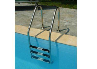 Εσωτερική ανοξείδωτη σκάλα με 3 σκαλοπάτι για ειδικές περιπτώσεις