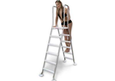 Σκάλα TOP-Ανοξείδωτη για πισίνες με μέγιστο ύψος 1,50m