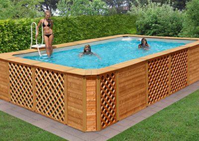 Πισίνα χωρίς άδεια-Εξωτερική επένδυση wood