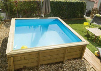 Πισίνα για παιδιά PISTOCHE με εξωτερική ξύλινη επένδυση