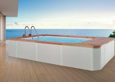 Πισίνα χωρίς άδεια-Εξωτερική επένδυση Rattan