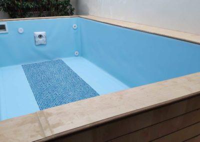 Πισίνα αποκάταστασης - Εσωτερική επένδυση με liner